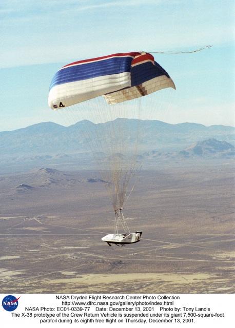NASA X-38 on parafoil